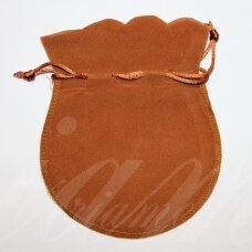 dm0139 apie 160 x 130 mm, šviesi, ruda spalva, aksominis dovanų maišelis, 1 vnt.