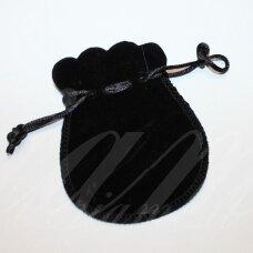 dm0142 apie 100 x 80 mm, juoda spalva, aksominis dovanų maišelis, 1 vnt.