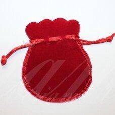 dm0143 apie 100 x 80 mm, raudona spalva, aksominis dovanų maišelis, 1 vnt.