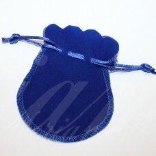 DM0144 apie 100 x 80 mm, mėlyna spalva, aksominis dovanų maišelis, 1 vnt.