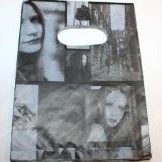 DM0153 apie 180 x 130 mm, marga spalva, dovanų maišelis, 10 vnt