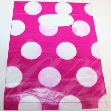 dm0155 apie 280 x 200 mm, marga spalva, rožinė spalva, dovanų maišelis, apie 100 vnt