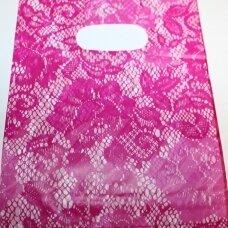 dm0167 apie 200 x 150 mm, marga spalva, rožinė spalva, dovanų maišelis, apie 10 vnt