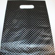 DM0175 apie 280 x 200 mm, marga spalva, juoda spalva, dovanų maišelis, apie 100 vnt