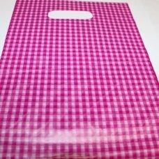 dm0176 apie 280 x 200 mm, marga spalva, rožinė spalva, dovanų maišelis, apie 100 vnt.