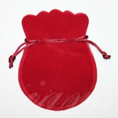 DM0132 apie 130 x 105 mm, raudona spalva, aksominis dovanų maišelis, 1 vnt.