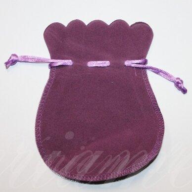 dm0133 apie 130 x 105 mm, šviesi, violetinė spalva, aksominis dovanų maišelis, 1 vnt.