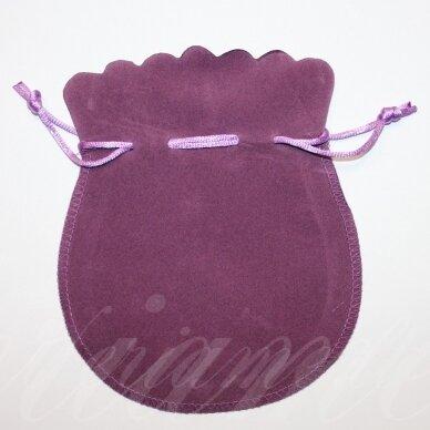 dm0138 apie 160 x 130 mm, šviesi, violetinė spalva, aksominis dovanų maišelis, 1 vnt.