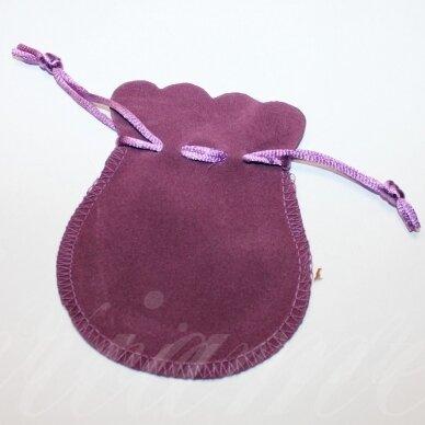 dm0141 apie 100 x 80 mm, šviesi, violetinė spalva, aksominis dovanų maišelis, 1 vnt.