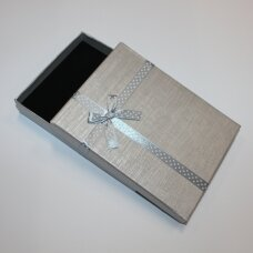 dz0037-stat-160x120x30 about 160 x 120 x 30 mm, rectangle shape, silver color, strip with dots, gift box, 1 pc.