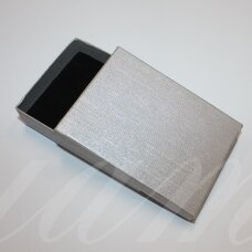 dz0037-stat-110x80x30 about 110 x 80 x 30 mm, rectangle shape, silver color, gift box, 1 pc.