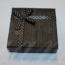 dz0038-kvad-50x50x30 about 50 x 50 x 30 mm, square shape, black color, strip with dots, gift box, 1 pc.