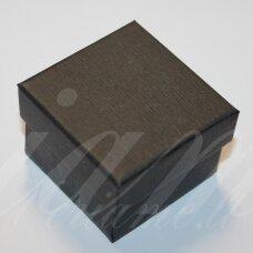 dz0046-kvad-50x50x35 apie 50 x 50 x 35 mm, kvadrato forma, juoda spalva, dovanų dėžutė, 1 vnt.