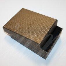 DZ0054-STAT-90x70x25 apie 90 x 70 x 25 mm, stačiakampio forma, bronzinė spalva, dovanų dėžutė, 1 vnt.