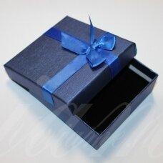 dz0055-kvad-90x90x30 about 90 x 90 x 30 mm, square shape, blue color gift box, blue color strip, 1 pc.
