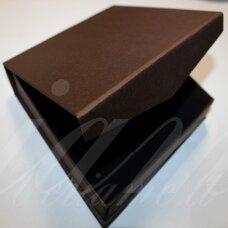 DZ0066-KVAD-165x165x35 apie 165 x 165 x 35 mm, kvadrato forma, ruda spalva, su magnetu, dovanų dėžutė, 1 vnt.