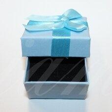 DZ0073-KVAD-50x50x35 apie 50 x 50 x 35 mm, kvadrato forma, melsva spalva, su juostele, dovanų dėžutė, 1 vnt.
