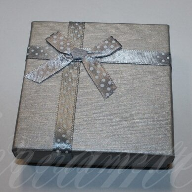 dz0037-kvad-90x90x30 about 90 x 90 x 30 mm, square shape, silver color, strip with dots, gift box, 1 pc.
