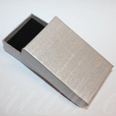 dz0037-stat-80x50x25 apie 80 x 50 x 25 mm, stačiakampio forma, sidabrinė spalva, dovanų dėžutė, 1 vnt.