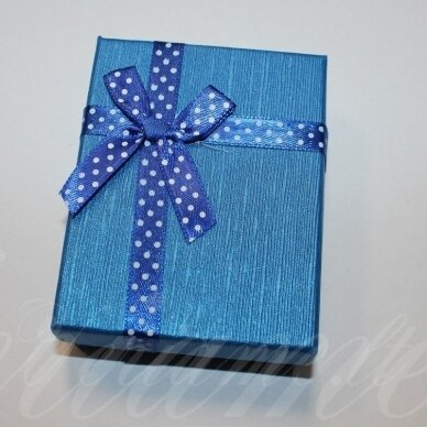 dz0041-stat-80x50x25 about 80 x 50 x 25 mm, rectangle shape, blue color, strip with dots, gift box, 1 pc.