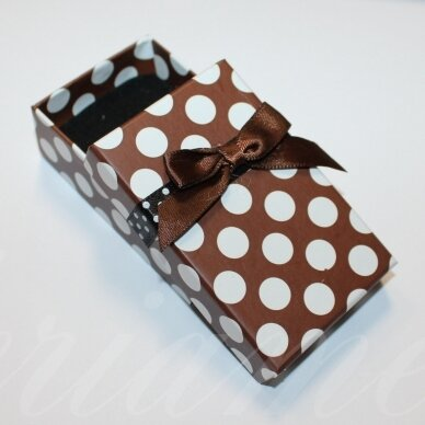 DZ0081-STAT-80x50x25 about 80 x 50 x 25 mm, rectangular shape, colourful, brown color, gift box, 1 pc.