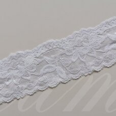 elgip005-1 about 50 mm span, white color, elastic guipure strip, 1 m.