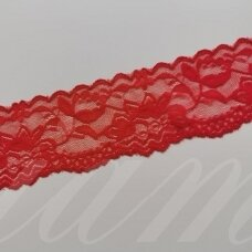 elgip009-1 about 50 mm span, red color, elastic guipure strip, 1 m.