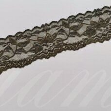 elgip015-1 about 50 mm span, dark, grey color, elastic guipure strip, 1 m.