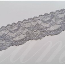 elgip016-1 about 50 mm span, light, grey color, elastic guipure strip, 1 m.