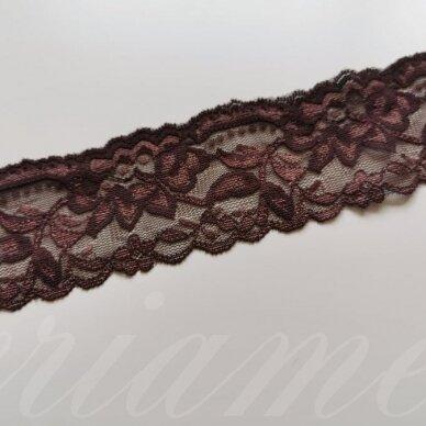 elgip001-1 apie 50 mm plotis, ruda/šokoladinė spalva, elastinga gipiūrinė juostelė, 1 m.