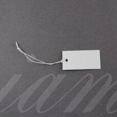 et0002 about 35 x 18 mm, white color, label, 40 pcs.