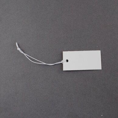 et0002 apie 35 x 18 mm, balta spalva, etiketė, 40 vnt.