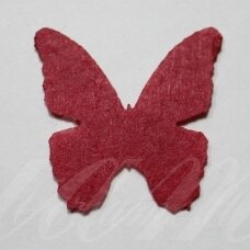 fd0009-drug-32x32 about 32 x 32 mm, butterfly shape, red color, key accessories, 1 pc.