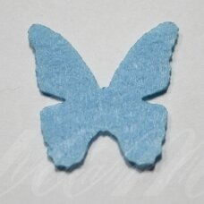 fd0017-drug-32x32 about 32 x 32 mm, butterfly shape, light blue color, key accessories, 1 pc.