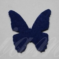 fd0019-drug-32x32 about 32 x 32 mm, butterfly shape, dark, blue color, key accessories, 1 pc.