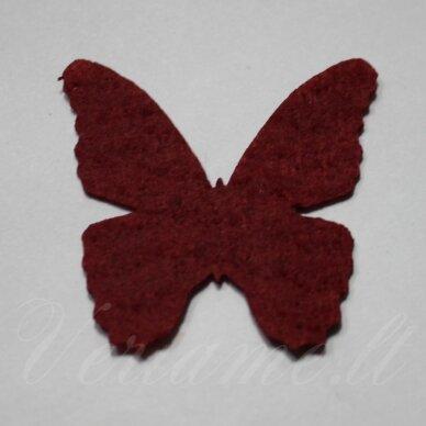 fd0001-drug-32x32 apie 32 x 32 mm, drugelio forma, bordo spalva, filcas, 1 vnt.