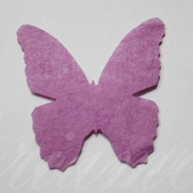 fd0004-drug-32x32 apie 32 x 32 mm, drugelio forma, alyvinė spalva, filcas, 1 vnt.