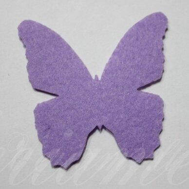 fd0005-drug-32x32 apie 32 x 32 mm, drugelio forma, šviesi, violetinė spalva, filcas, 1 vnt.