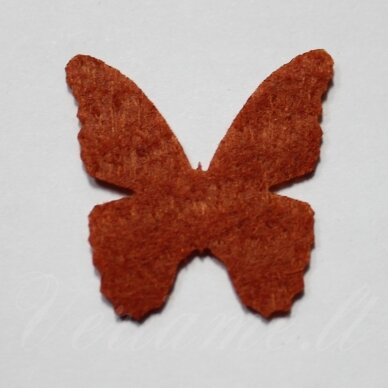 fd0011-drug-32x32 apie 32 x 32 mm, drugelio forma, ruda spalva, filcas, 1 vnt.