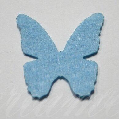 fd0017-drug-32x32 apie 32 x 32 mm, drugelio forma, žydra spalva, filcas, 1 vnt.