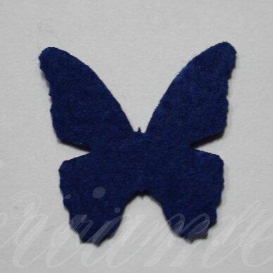 fd0019-drug-32x32 apie 32 x 32 mm, drugelio forma, tamsi, mėlyna spalva, filcas, 1 vnt.