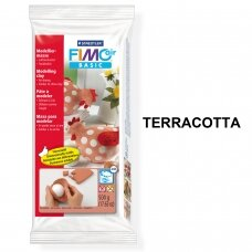FIMO® Air Basic Modelling Clay (air-drying or microwave hardening) Terracotta 500g