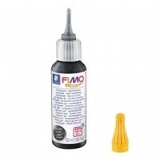 FIMO® aukštoje temperatūroje kietėjantis skystas gelis Black (juodas) 50ml