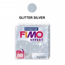 FIMO® Effect modelinas (kietėjantis aukštoje temperatūroje) Glitter Silver 57g