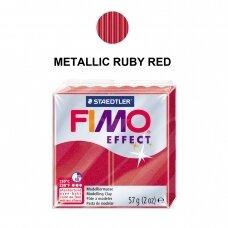 FIMO® Effect modelinas (kietėjantis aukštoje temperatūroje) Metallic Ruby Red 57g