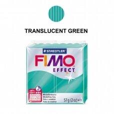 FIMO® Effect modelinas (kietėjantis aukštoje temperatūroje) Translucent Green 57g