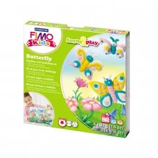 "FIMO® Kids Modelling Clay (oven-bake) Form & Play Jewellery Set ""Butterfly"""