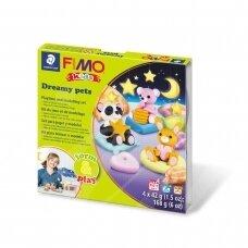 """FIMO® Kids modelinas (kietėjantis aukštoje temperatūroje) Form & Play kūrybos rinkinys """"Dreamy Pets"""""""