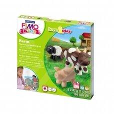 """FIMO® Kids modelinas (kietėjantis aukštoje temperatūroje) Form & Play kūrybos rinkinys """"Farm"""""""