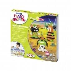"""FIMO® Kids modelinas (kietėjantis aukštoje temperatūroje) Form & Play kūrybos rinkinys """"Space Monster"""""""